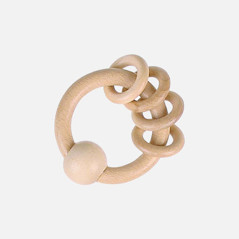 Round Wooden Touch Ring/Rattle