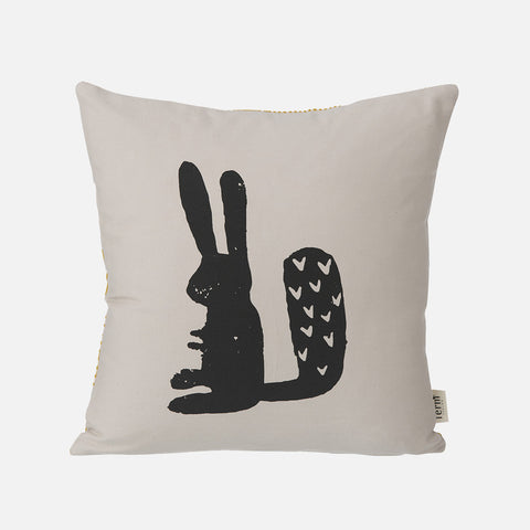 Organic Cotton Rabbit Cushion - Grey