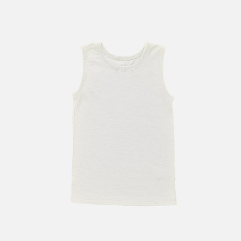 Merino Sleeveless Vest/Undershirt - Natural - 1-12y