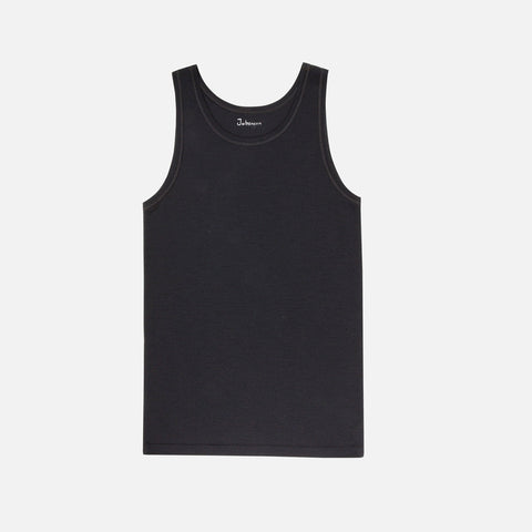 Mens Merino Wool Sleeveless Vest Black