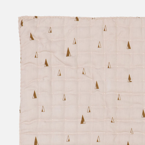 Organic Cotton Cone Quilted Blanket - Rose