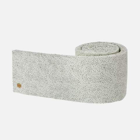 Organic Cotton Bed Bumper - Mint Dot