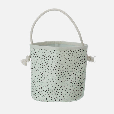 Organic Cotton Dot Basket - Mint - Mini/Small/Medium