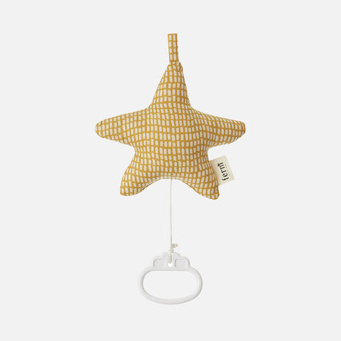 Organic Cotton Star Music Mobile - Curry