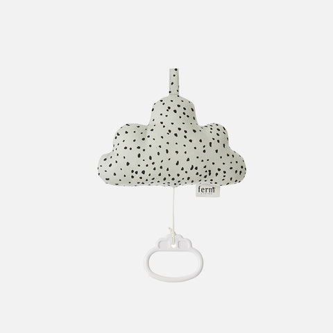 Organic Cotton Cloud Music Mobile - Mint Dot