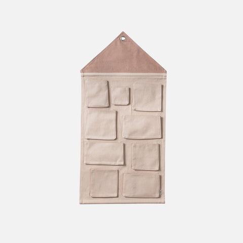 Organic Cotton House Wall Storage - Rose