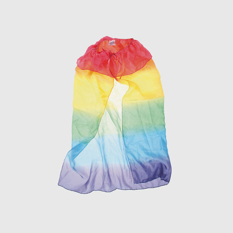 100% Silk Rainbow Cape