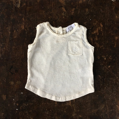 Cotton/Linen Tank Top - White - 3m-2y