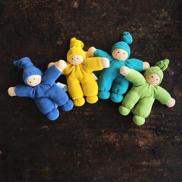 Organic Cotton/Wool Colourful Friends - Yellow, Turquoise and Green
