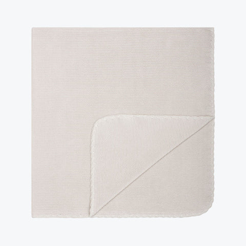 Organic Cotton Knitted Baby Blanket / Swaddle - Dune