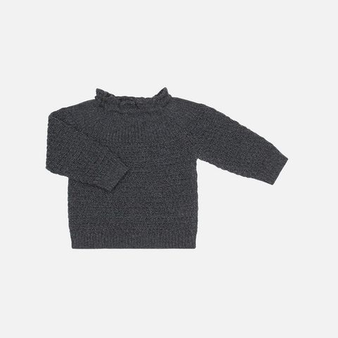 Selana Organic Merino Sweater - Space - 6-12m