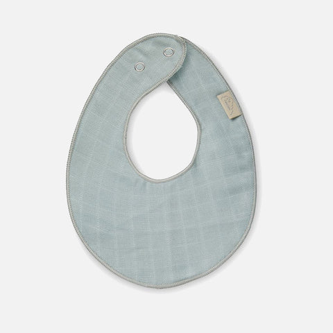 Organic Cotton Muslin Dribble Bib - Petrolium