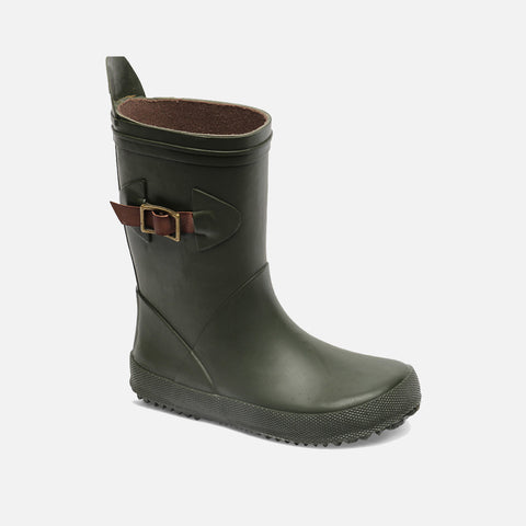 Natural Rubber Slim Boots - Green - 32-34