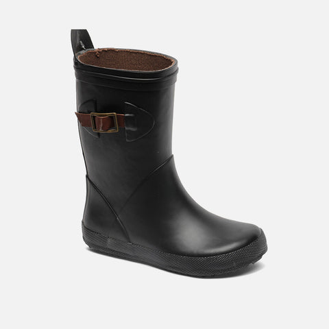 Natural Rubber Slim Boots - Black - 31-32