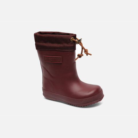 Natural Rubber Boots - Wool Lined - Bordeaux - 20 (UK 3) - 35 (UK1)