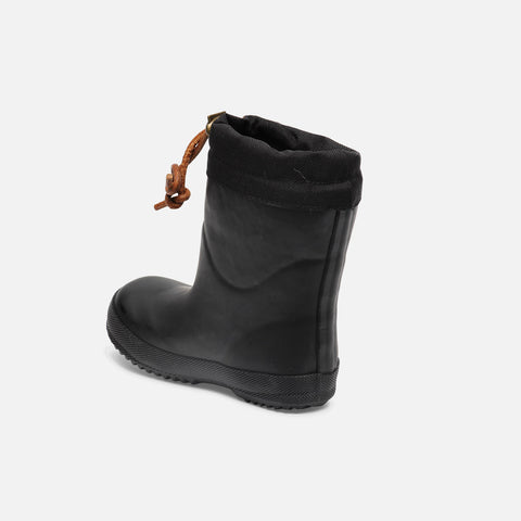 Natural Rubber Boots - Wool Lined - Black - 20 (UK 4) - 36 (UK 3.5)