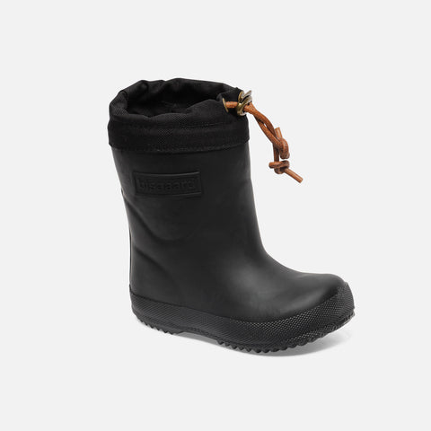 Natural Rubber Boots - Wool Lined - Black