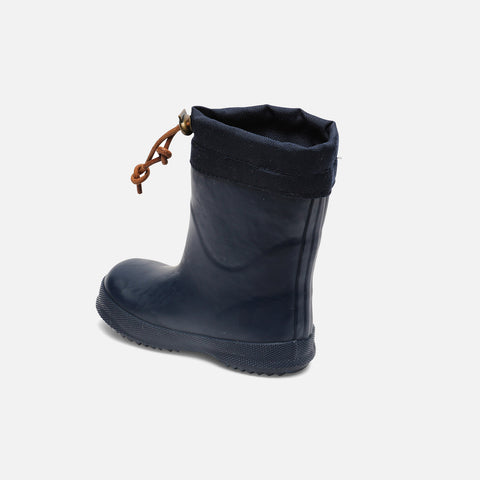 Natural Rubber Boots - Wool Lined - Blue - 22 (UK 5) - 32 (UK13)