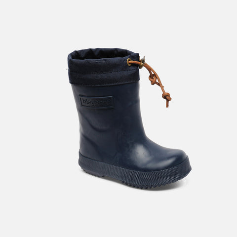 Natural Rubber Boots - Wool Lined - Blue - EU20 (UK3) - 36 (UK3.5)