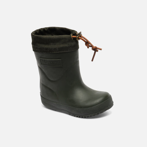 Natural Rubber Boots - Wool Lined - Green - 22 (UK 5) - 33 (UK1)