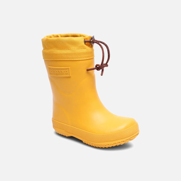 Natural Rubber Boots - Wool Lined - Yellow