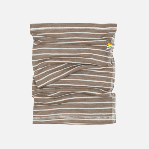 Merino Wool/Silk Snood - Walnut Stripe - 1-6y