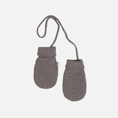 Merino Wool Mittens - Iron Brown - 0-12m
