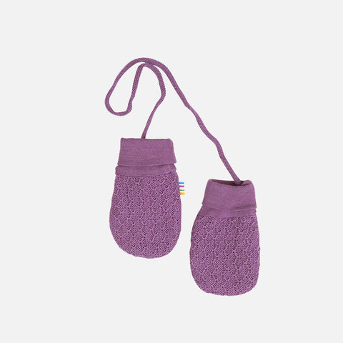 Merino Wool Mittens - Grape - 0-12m