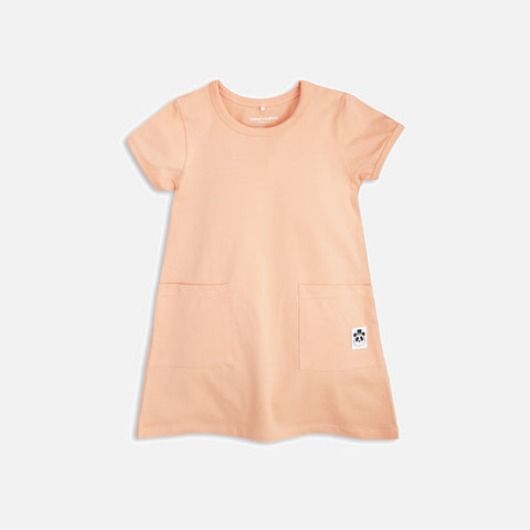Organic Basic SS Dress - Pink - 6m-7y