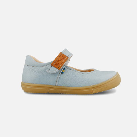 Eco Leather Mary Janes - Blue - 24(UK7) - 30(UK12)