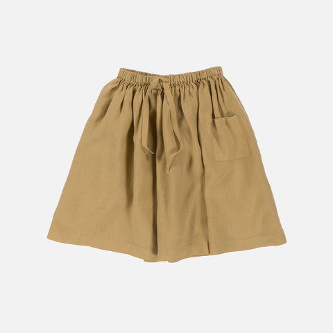 Linen Audry Skirt - Granola - 4-8y