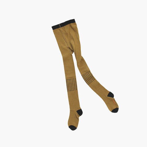 Dot Tights - Golden Brown - 6m-8y