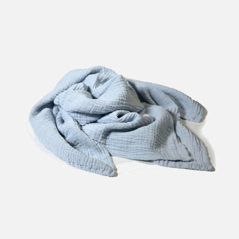 Children's Muslin Cotton Scarves - Clear Water Blue - 2-12y