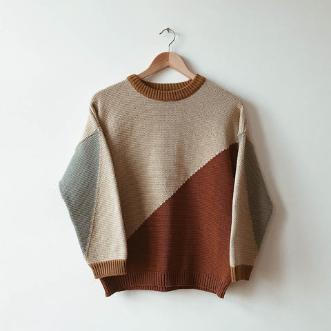 Adult's Organic Cotton/Wool Night And Day Knit Pullover - Ecru