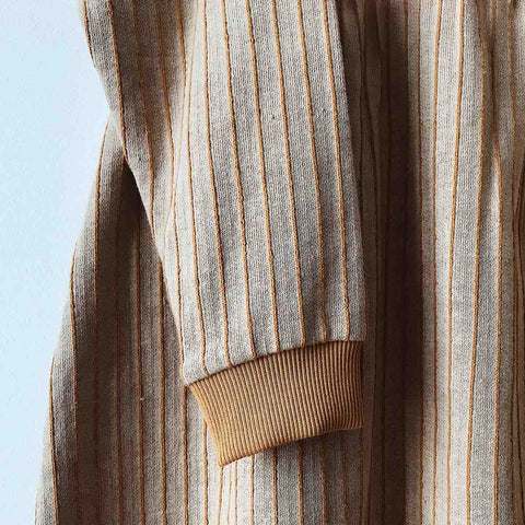 Organic Cotton Parallel Oversized Dress - Dune Stripe