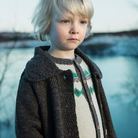 Alpaca Mountain Cardigan - Sea Foam - 6m-8y