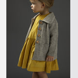 Corduroy Pocket Dress Long Sleeves - Yellow - 18m-8y