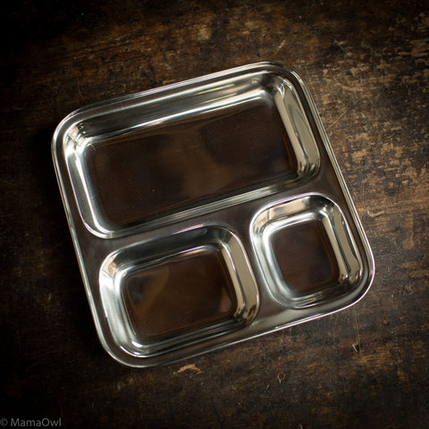Stainless Steel Square Divided Plate