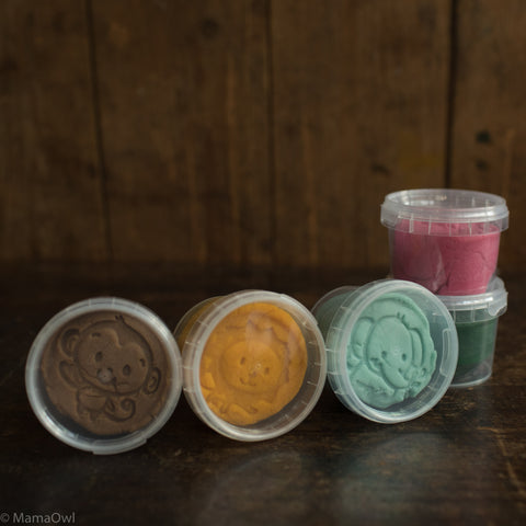 Organic Modelling Play Dough Medium Tube - Basic Colours