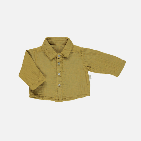 Organic Cotton Garcon Shirt - Cassonade - 6m-10y