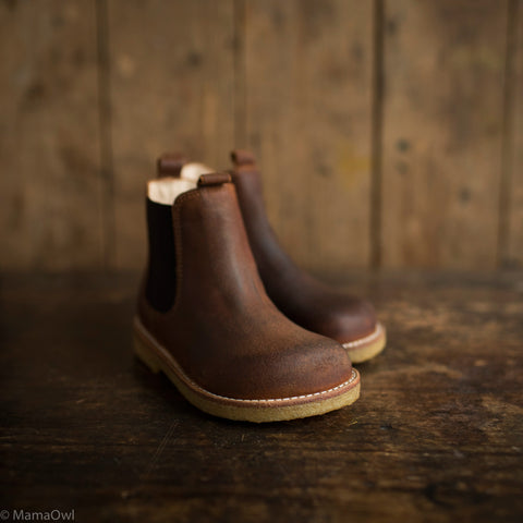Chelsea Leather Boots - Brown Rust