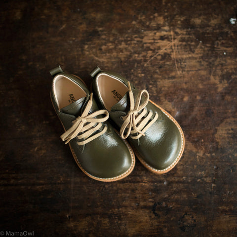 Kids Lace Shoe - Olive
