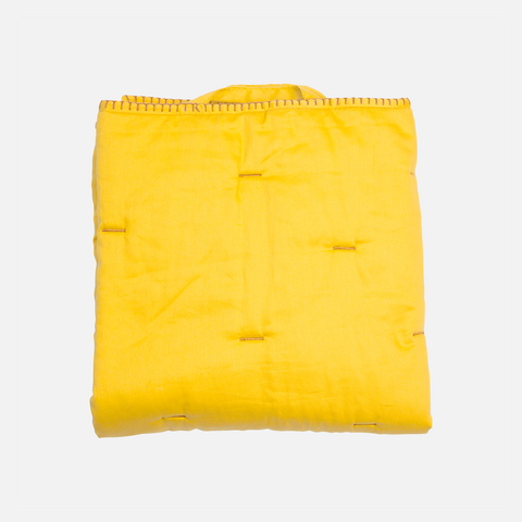 Organic Cotton Pattern Baby Quilt - Yellow - One Size