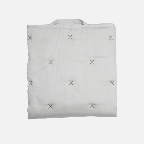Organic Cotton Pattern Baby Quilt - Grey - One Size