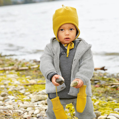Organic Boiled Merino Jacket - Grey - 6m-5y