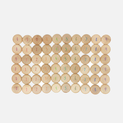 Wooden Coins to Count