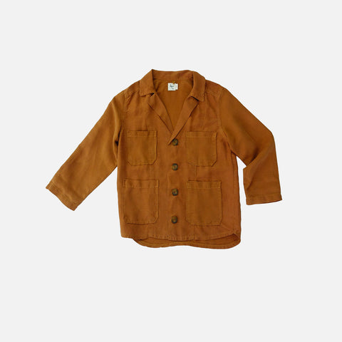 Linen Canvas Bamboo Jacket - Magma - 2-8y
