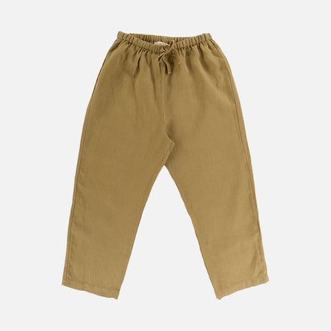 Linen Berny Trousers - Light Oak