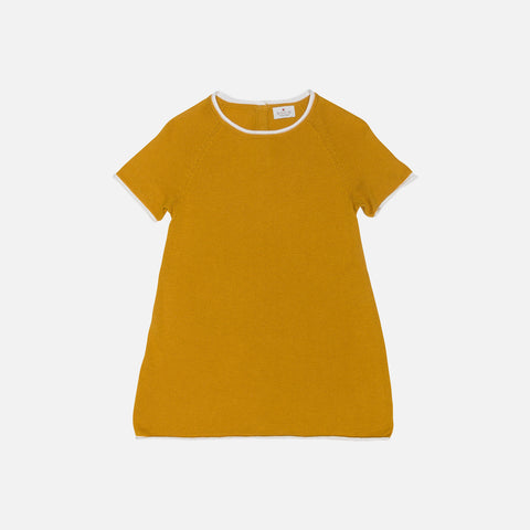 Organic Cotton/Merino Dress - Mustard - 9-18m