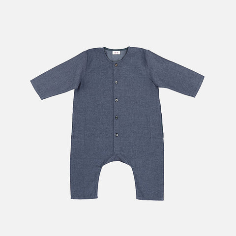 Kumar Overall - Chambray Blue - 12m-2y